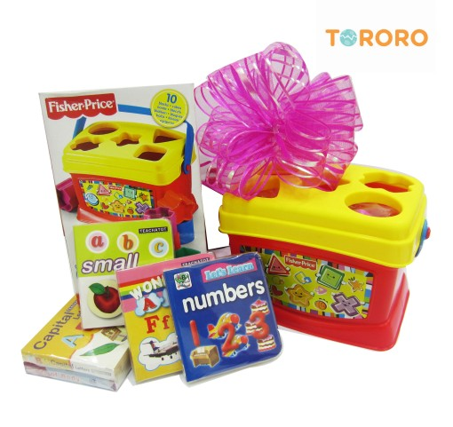 Parsel Tororo : 1 Fisher Price + 5 buku edukasi (Teachatot)