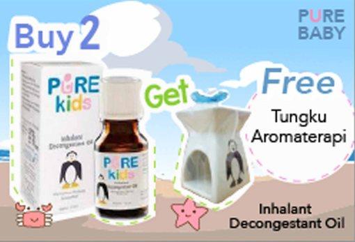 Buy 2 Pure Kids Get Free Tungku Aromaterapi