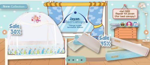Diskon Javan Bed Canopy, Bantal dan Guling