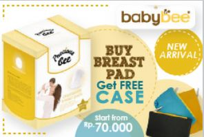 PROMO Babybee Disposable Breast Pads 60+10 FREE CASE