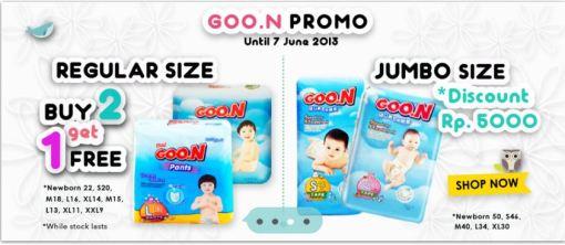 Promo Goon Buy 2 Get 1 free