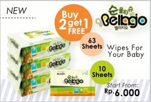 Promo Bellagio Wipes Buy 2 Get 1 Free