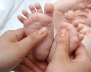 Massage of foots